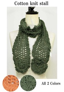 S/S Hand Knitting Cotton Knitted Stole