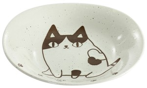 Porcelain 1Pc Neko Sankyodai Curry Plate