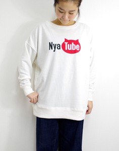 Fleece Big Sweatshirt Meow tube