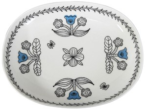 Oval Plate Blue