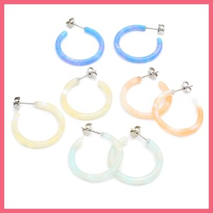 Marble Hoop Pierced Earring 8mm