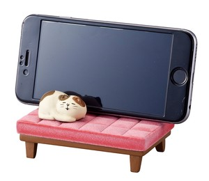 Smartphone Stand Cat Pink