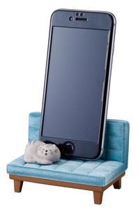 Smartphone Stand Cat Blue