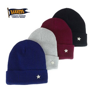 Star Pins Cotton Knitted Watch Cap Young Hats & Cap