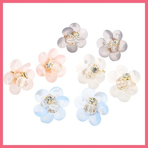 Milky Color Acrylic Flower Pierced Earring