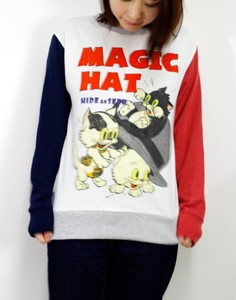 Long Sleeve Sweatshirt Magic Hat Cat