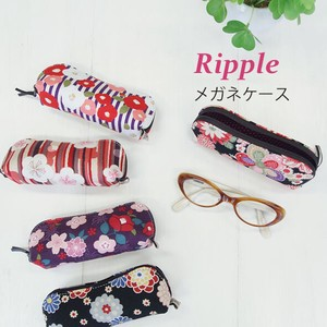 Eyeglass Case Light-Weight soft Pouch Type Ladies Japanese Pattern
