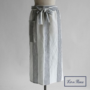 Skirt Apron Linen Stripe