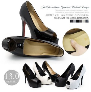 High Heel Open Toe Pumps