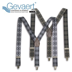 Suspender Madras Checkered Belgium