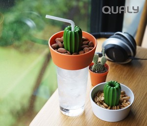 Cover Snack Bowl Glass Cover Cactus