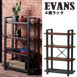 【直送可】エヴァンスラック(4段) 収納 インダストリアルデザイン EVS-RA80