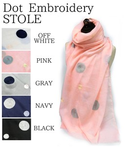 Dot Embroidery Stole