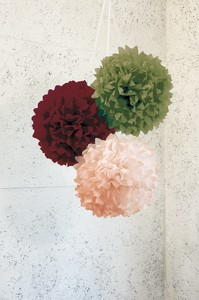 Paper 3 Pcs Set Flower Ball