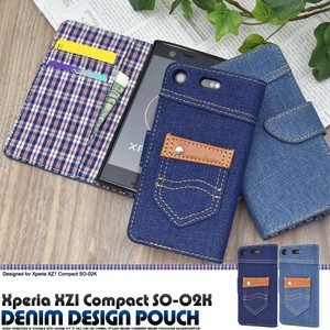 Smartphone Case Xperia XZ SO Denim Design Case Pouch Design