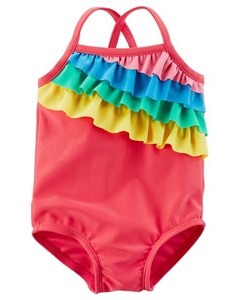 Car Swimwear One-piece Dress Rainbow