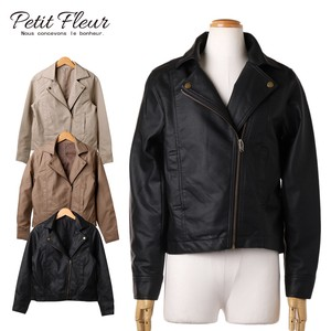 S/S Fake Leather Regular Motorcycle Leather Jacket Color Petit Rule