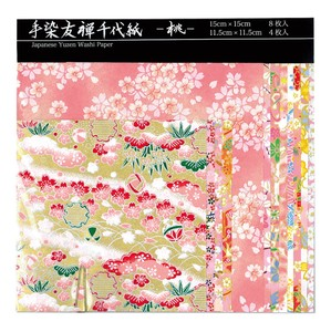 New Year Sakura Yuzen Japanese Paper Chiyogami Origami Craft Doll Wrapping Made in Japan