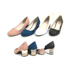 Spring Items Emergency Color Block Heel Plain Pumps