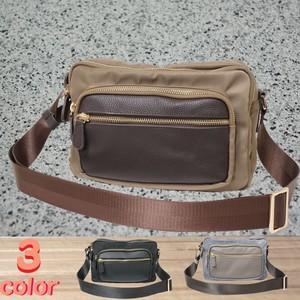 Shoulder Bag 3 Colors Polyester Cow Leather