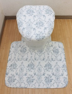 Cotton Quilt Bathroom Furnishing Set Rose Rest Series