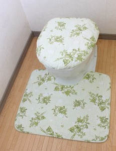 Cotton Quilt Bathroom Furnishing Set Lilac Green Series