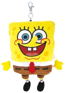 Sponge Bob Soft Toy Commuter Pass Holder SQUARE