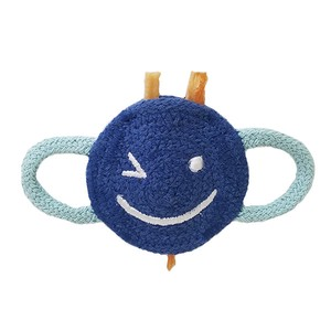 Love Pets Indian Cotton Winking Smiley Face Navy / 100% Indian Cotton Dental Chew Toy