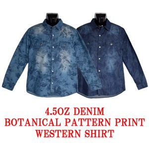 Denim Botanical Print Shirt