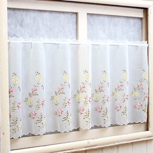 Floret Embroidery Cafe Curtain
