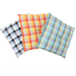 Floor Cushion Cushion Checkered Colorful Zabuton Gift