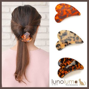 Tortoiseshell Color Larger Heart Clip