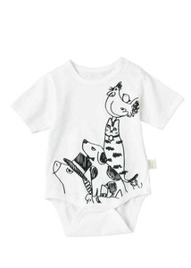 Organic Cotton Baby Animal Print Rompers