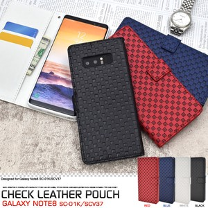 Smartphone Case SC SC Checkered Pattern Design Stand Case Pouch