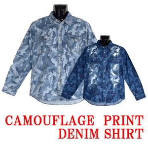 Camouflage Print Denim Shirt