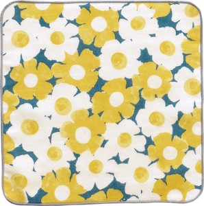Towel Handkerchief Flower Yellow