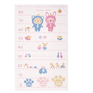 Baby Costume Height Meter Towel Pink