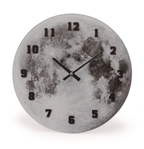 Cosmic Glass Clock Wall Moon