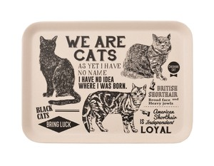 Bamboo Fiber Luncheon Tray Cat Poster