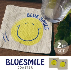 BLUE SMILE Coaster 2 Pcs Set