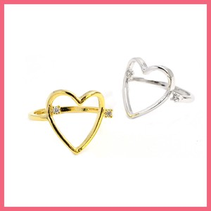 Cubic Heart Ring