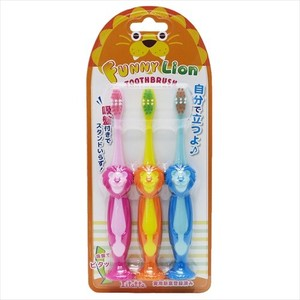 Dental LION Sucker Attached Toothbrush 3Pcs set