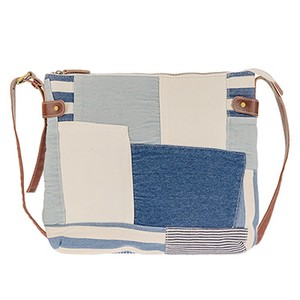 Ladies Denim Patchwork Casual Square Shoulder
