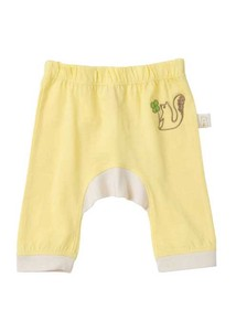 Organic Cotton Baby Squirrel Embroidery Monkey Pants