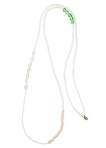 Hand Maid Glass Long Necklace