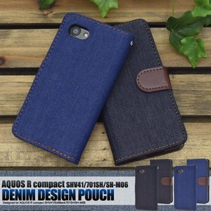 Smartphone Case SoftBank Denim Design Stand Case Pouch