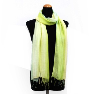2018 S/S Stole Rayon Silk Material S/S Stole Green