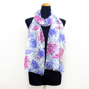 2018 S/S Stole Material Brilliant S/S Stole Floral Pattern Purple