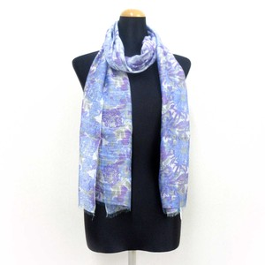 2018 S/S Stole Rayon Silk Material Brilliant S/S Stole Floral Pattern Blue