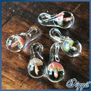 Hand Maid Glass Pendant Head Glass Pendant Material Material Mushroom